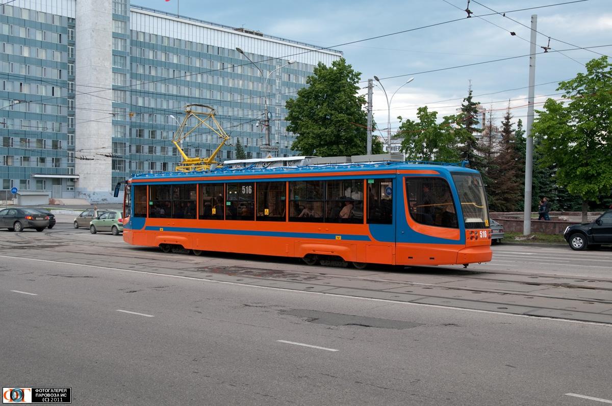 Трамвай ктм 71 623 00 №516 улица ленина