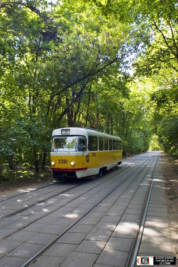 Трамвай МТТЧ №3381, маршрут №6